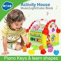 HOLA 739 multifuncional juguetes musicales bebé divertido casa electrónicos musicales bloques de clasificación de aprendizaje de juguetes educativos, regalos