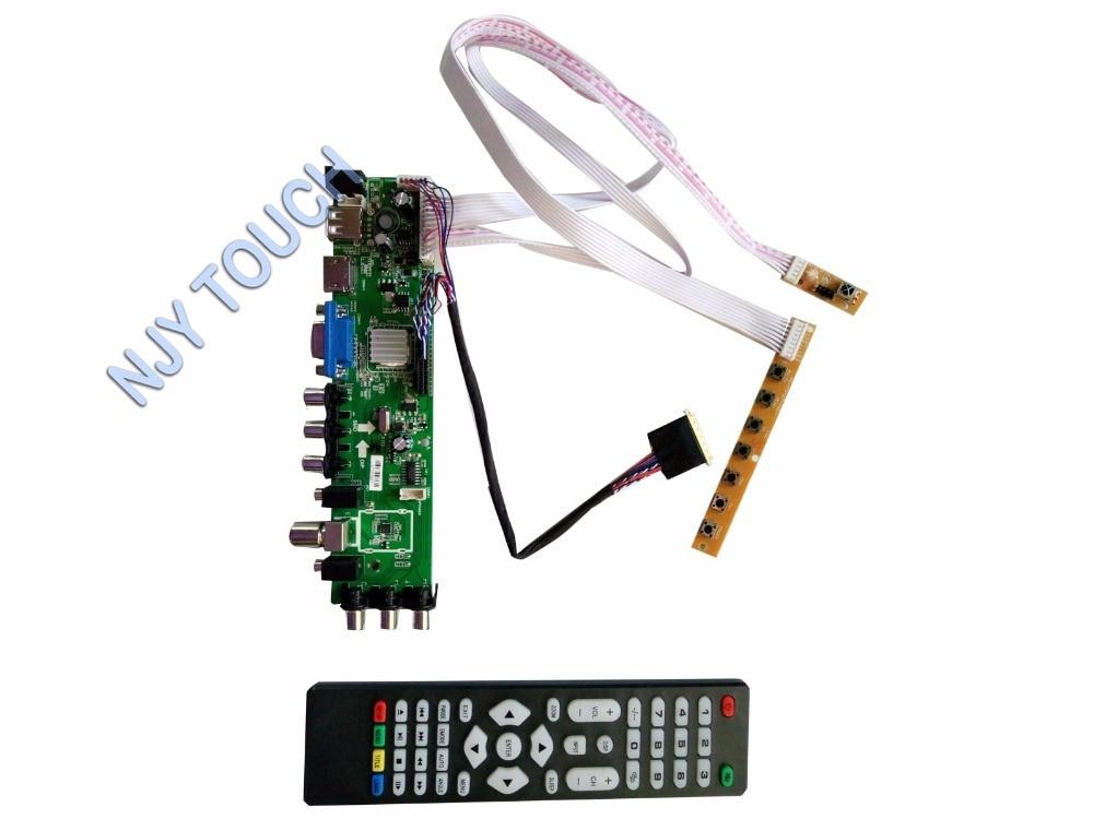 New Z.VST.3463 DVB-C DVB-T DVB-T2 TV LCD Controller Board kit For N156BGE-L21 LTN156AT05 1366x768 LCD Panel dvb t2 dvb tv receiver w remote controller black