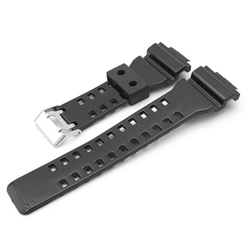 цена на 16mm Silicone Rubber Watch Band Strap Fit For G Shock Replacement Black Waterproof Watchbands Accessories