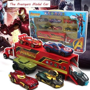 2019 Scale 1:64 The Avengers VS Justice League Car Alloy Diecast & Toy Vehicle DieCast Car Model Toys For Children HotWheelsing(China)