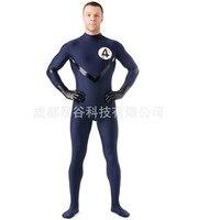 2016 New High Quality Lycra Zentai Suit Second SkinTight SuitsNo Hood Mock Neck Spandex Unitard Mens