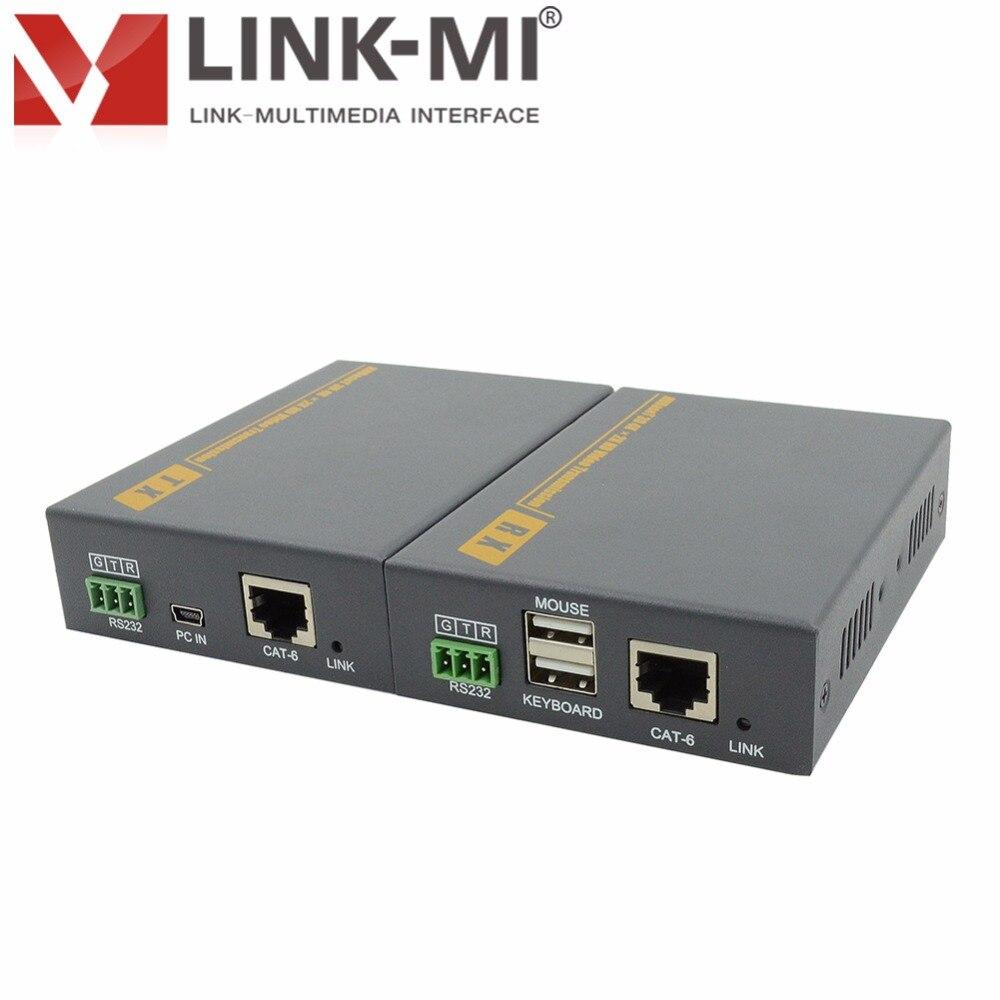 LM-HT201DKM 100 m HD vidéo HDBaseT DVI émetteur et récepteur, KVM + DVI Extender sur Cat6 Support clavier/souris