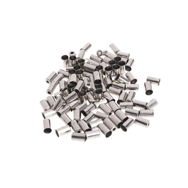 100Pcs/Bag Bicycle Brake Cable Wire End Caps Copper 5mm Bike Shifter Accessories
