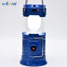 Willone 3 sets free shipping solar powered led hiking camping light