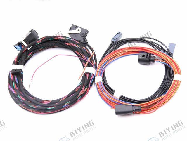Highline Emblem Flip logo Rear Camera Install Wiring Harness ... on