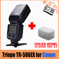 Triopo TR-586EX Режим Беспроводной Вспышки TTL Вспышка Speedlite Для Canon EOS 550D 60D 5D Mark II, как YONGNUO YN-568EX II