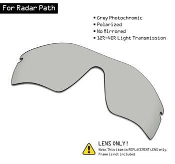 SmartVLT Polarized Sunglasses Replacement Lenses for Oakley Radar Path - Grey Photochromic smartvlt polarized replacement lenses for oakley fuel cell sunglasses multiple options