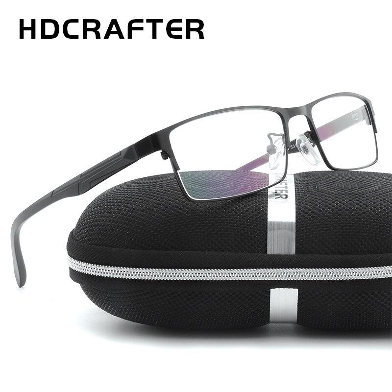 Hdcrafter Для мужчин металлические Оправы для женских очков унисекс высокое качество Для мужчин чтения оптических Оправы для женских очков уни...