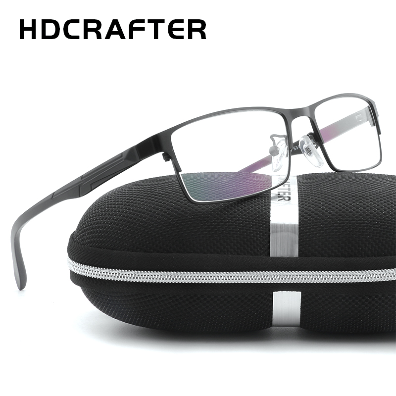 HDCRAFTER Mens Metal Eyewear Frames Unisex High Quality Men Reading Optical Computer Glasses