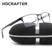 HDCRAFTER Mens Metal Eyewear Frames Unisex High Quality Men Reading Optical Computer Glasses