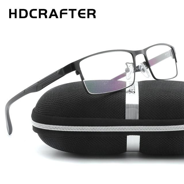 97e164fef4b7a HDCRAFTER Men s Metal Eyewear Frames Unisex High Quality Men Reading  Optical Eyewear Frames Unisex Computer Glasses