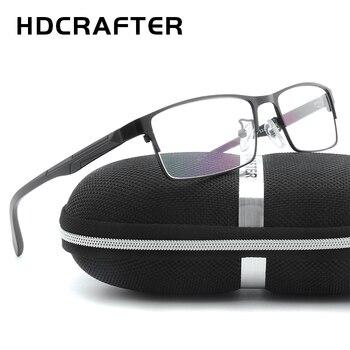 Hdcrafter Pria Logam Eyewear Frame Unisex Kualitas Tinggi Pria Membaca Optical Eyewear Frame Unisex Kacamata Komputer