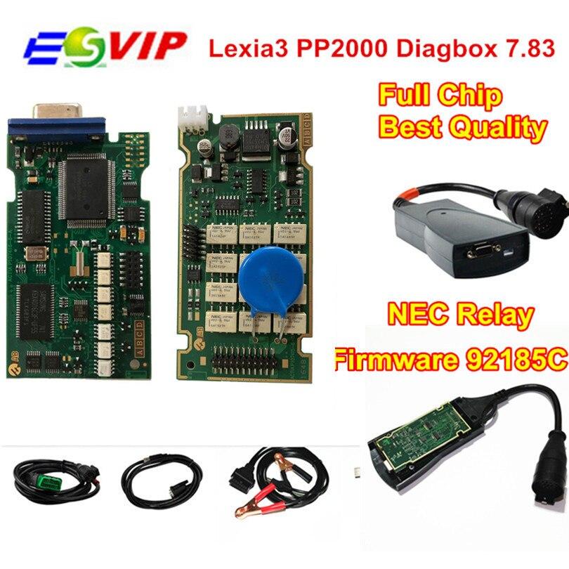 Beste Lexia 3 Volle Chip Lexia3 V48/V25 Neueste Diagbox V7.83 PP2000 Lexia-3 Firmware 921815C Diagnose Werkzeug