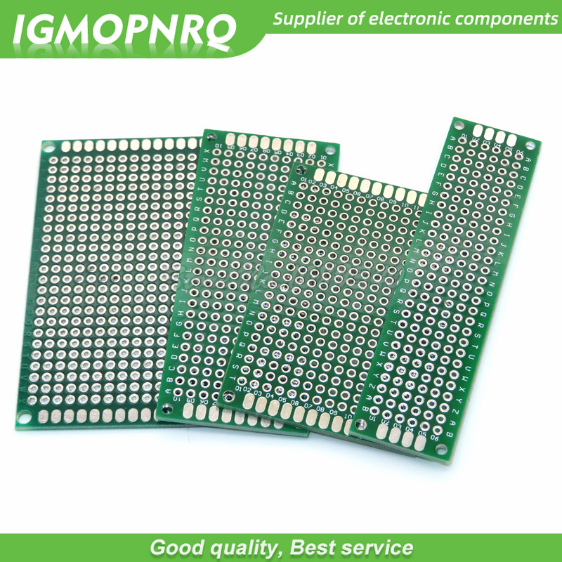 4pcs 5x7 4x6 3x7 2x8 Cm 5*7 4*6 3*7 2*8 Double Side Copper Prototype Pcb Universal Board Cave Plate Circuit Board