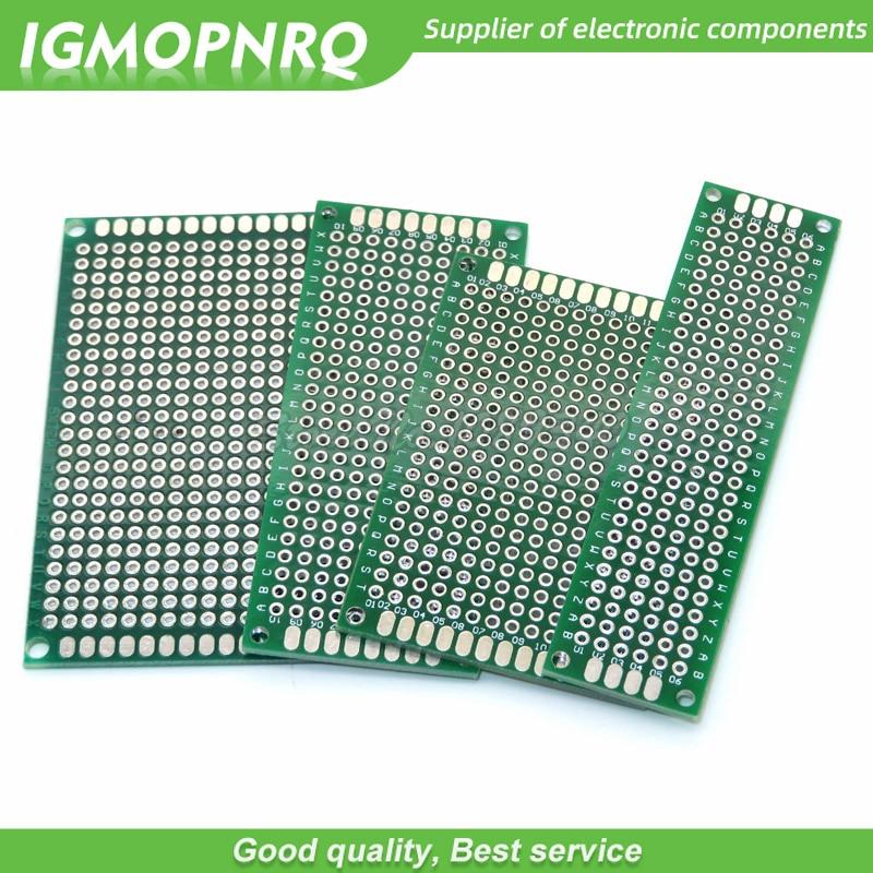 4pcs 5x7 4x6 3x7 2x8 cm 5*7 4*6 3*7 2*8 double Side Copper prototype pcb Universal Board Cave plate Circuit board