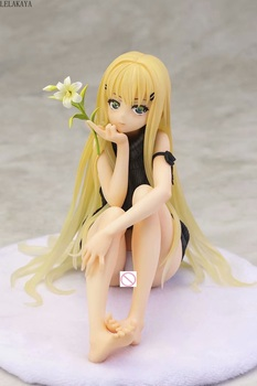 14cm Anime Bishoujo Mangekyou Tsumi to Batsu no Shoujo Kannagi Yuuri Sexy native Girl Ver. 1/6 PVC Action Figure Model Toys Doll image