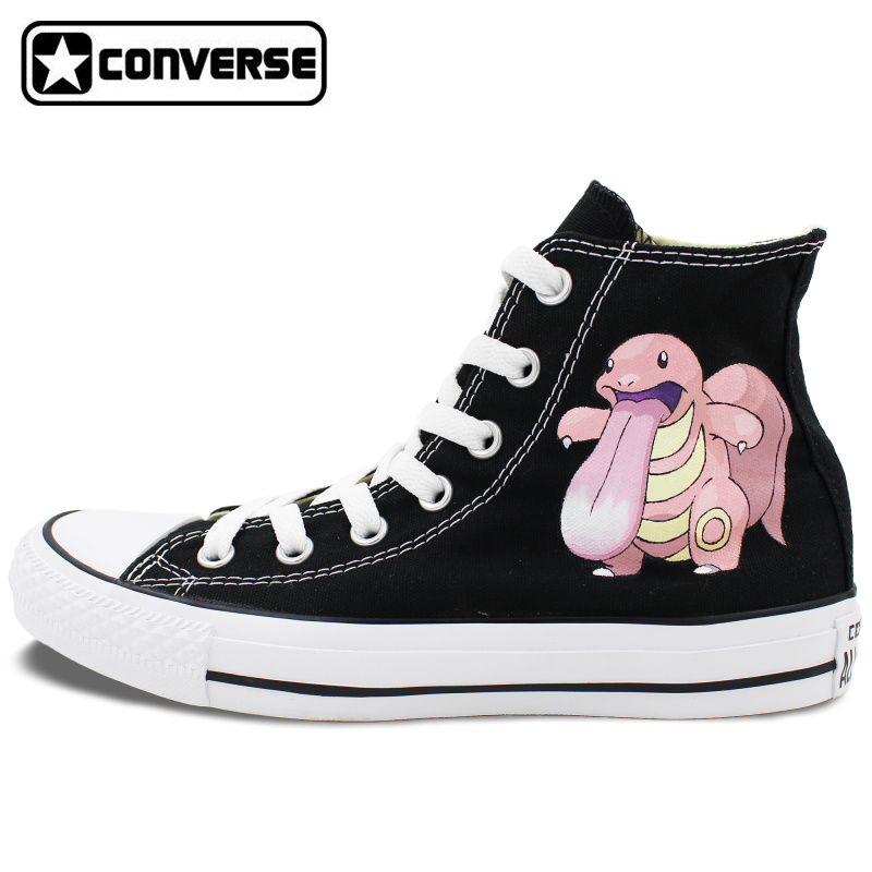 Pokemon Go All Star Converse Shoes Men Women Lickitung Tongue Hand Painted Shoes Man Woman Sneakers Boys Girls Shoes u каталог all go