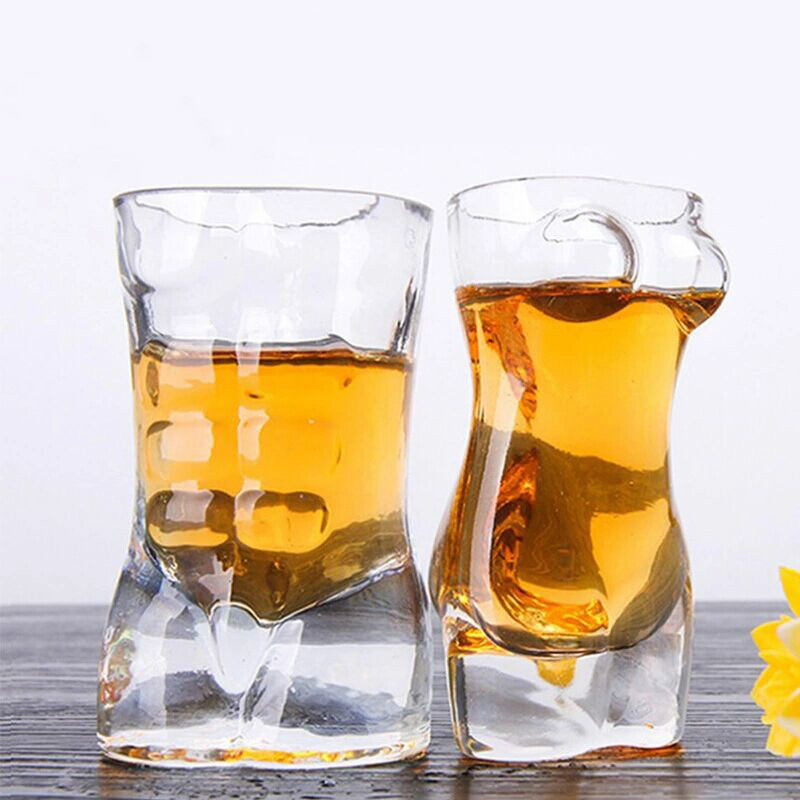 Creative Glass Whisky Mug Girl Shape Glass Body Cup Wine Creative Gifts Drinkware Transparent for The Whisky