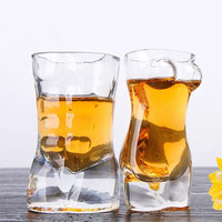 Creative Glass Whisky Mug Girl Shape Glass Body Cup Wine Creative Gifts Drinkware Transparent For The