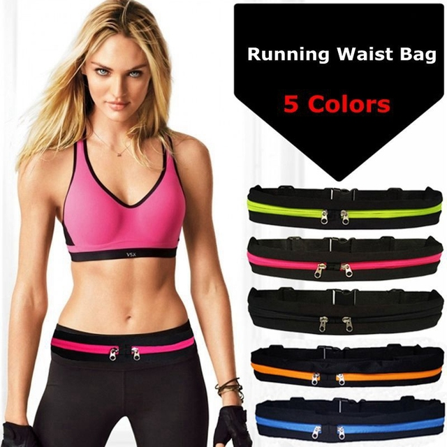 6.0 Unisex Running waist bag Mobile Phone Pouch sports bag Pocket Jogging Portable Waterproof Cycling Phone Anti-theft Pack Belt