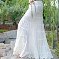 Envío Gratis 2017 Blanco Elegante ol Larga Piso-Longitud de La Falda Delgada Falda de Cola de Pescado de la cadera Para Las Mujeres Estilo Sirena Sexy Faldas de Verano
