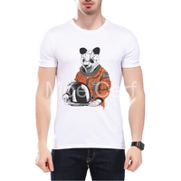 MOE CERF 2017 New Arrival Panda Astronaut Tee Shirt Funny 3D Space Printed Tops Summer Hipster Top Brands T Shirts Man L10-G-12