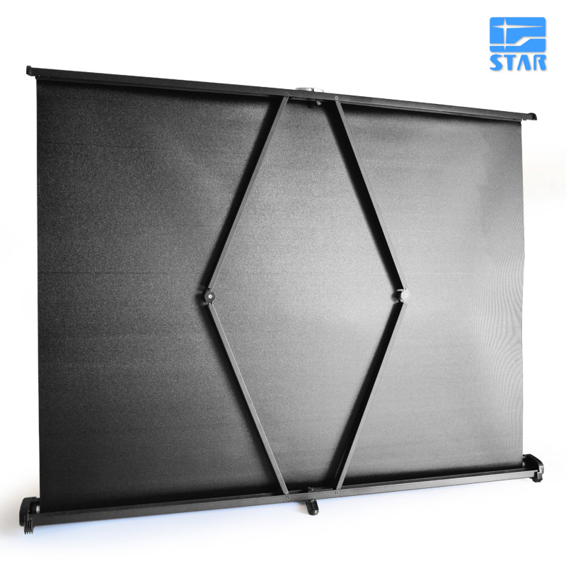 50 inch 4:3 Portable Easy Carry Mini Projection Projector Table Screen Matt White Fabric for Home Travelling Meeting Exhibition
