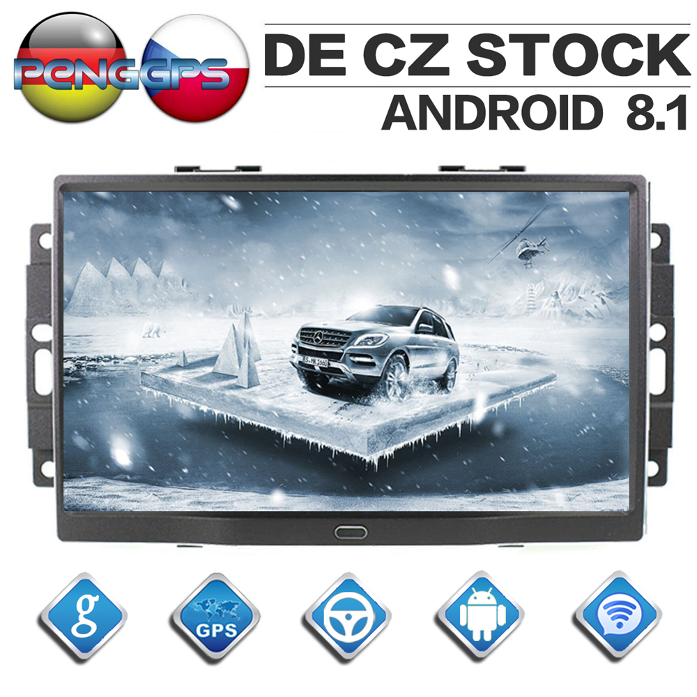 Android 8.1 Car CD DVD Player 8 Core GPS Navigation forChrysler 300C Jeep Dodge 2004 2005 2006 2007 2008 Two Din Car Radio Unit