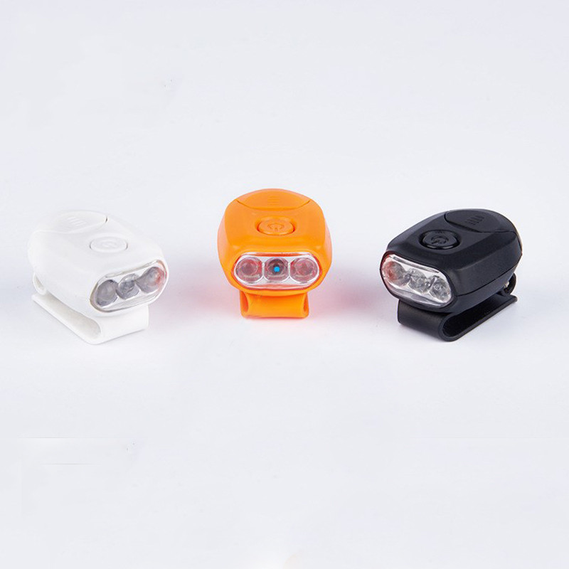 3 LED Plastic Mini Cap Outdoor Light 90 Degree Rotatable Clip-on Hat Light Hands Free Bright Bike Lamp Lantern Camping Cycling