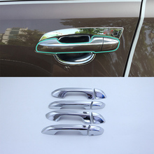 Car Accessories Exterior ABS Chrome Door Handle Cover Trims 8pcs For Kia KX5/Sportage 2016 Styling