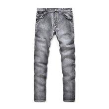 Новое прибытие ностальгия ретро джинсы мужчин высокое качество мода эластичность джинсы вскользь slim fit мужчин джинсы классические эластичные джинсы(China (Mainland))