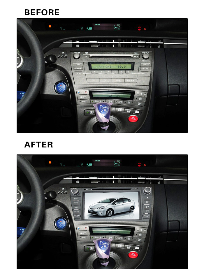 Android 9,0 RAM 2G Fit <font><b>TOYOTA</b></font> PRIUS links/rechts fahren 2009-AUTO DVD Player Navigation GPS Multimedia DVD GPS NAVI Radio KARTE image