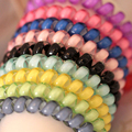 5pcs Colorful Telephone Wire Cord For Female Haird Accessories Hairband Scrunchy Hair Braiding Tools Elastic Ring Rubber Bands