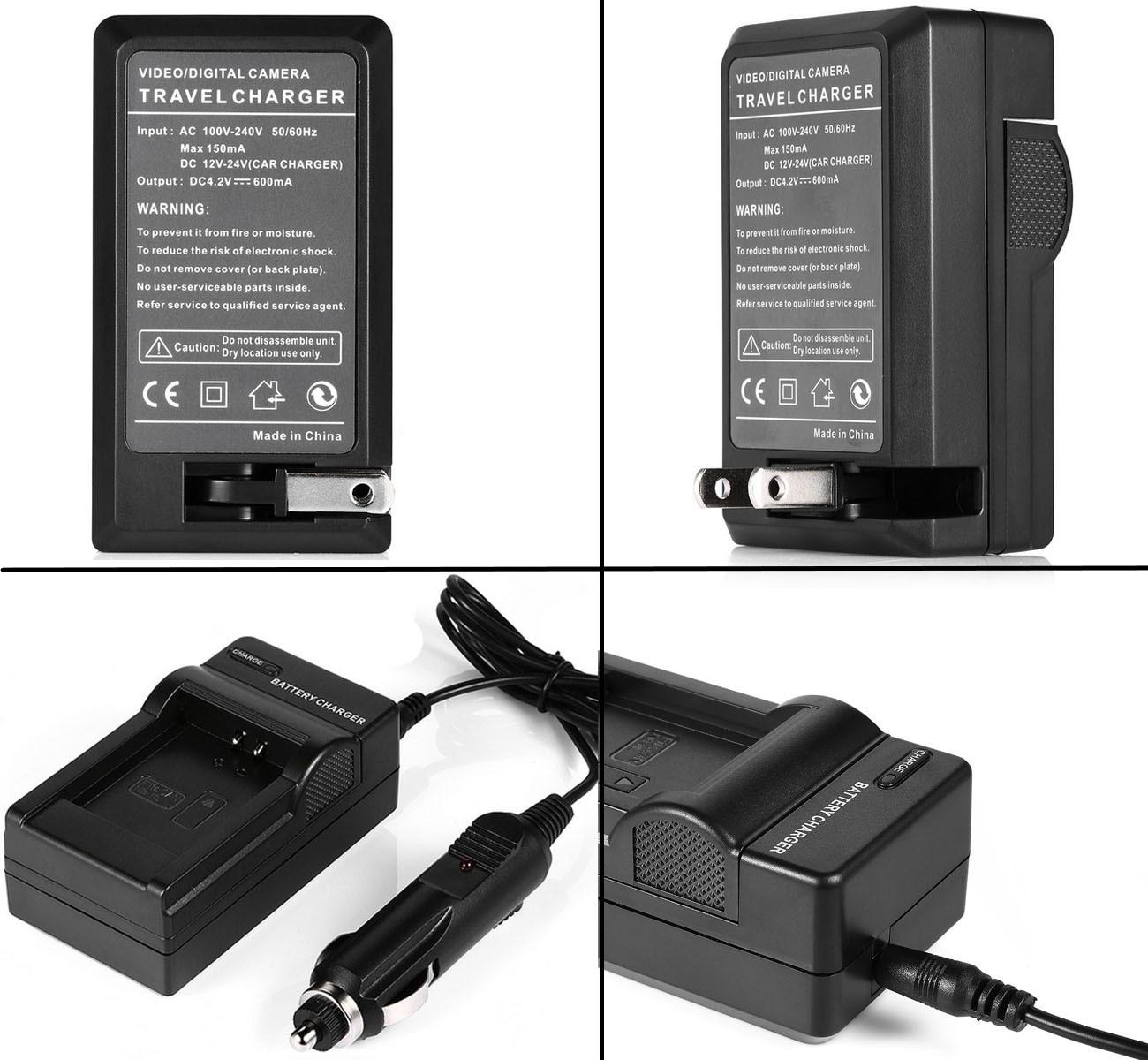 VHBW ® fotocamera CARICABATTERIE MICRO USB PER Sony Cybershot dsc-hx5//dsc-hx5v