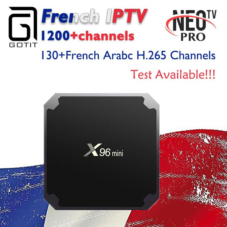 GOTIT French X96mini TV Android Box 7 1 with 1200 NEOtv IPTV QHDTV Subscription French Arabic