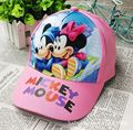 Lovely cartoon mouse children baseball hat for kids outdoor travel casual boys and girls caps print hip pop hats