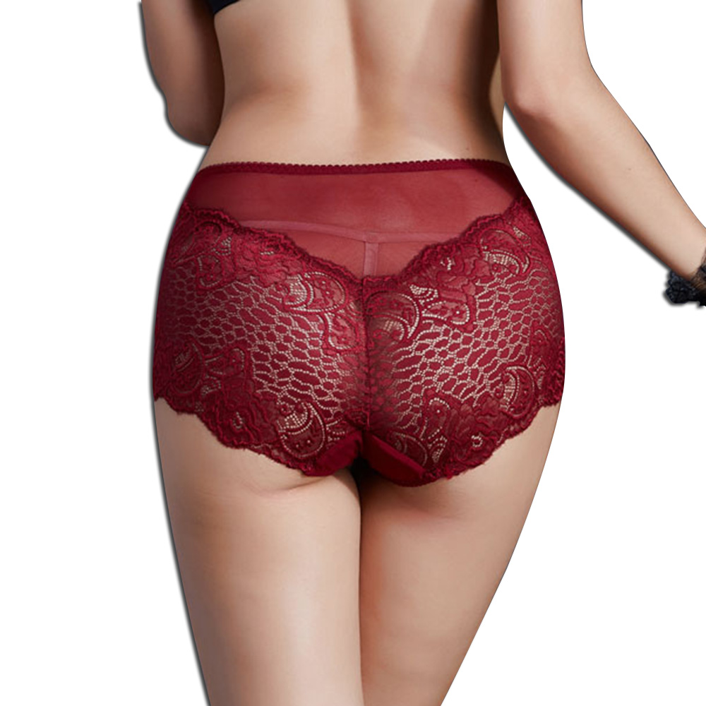 Underwear Women Cotton   Panties   Sexy Lace Hollow Briefs Seamless Bragas Intimates Plus Size Ropa Underpants Briefs For Women's