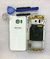 Полный Жилищно Передняя Рамка Ближний Рама Задняя Крышка Батареи Комплект чехол Для Samsung Galaxy S6 edge G925 с Инструментами Бесплатный доставка