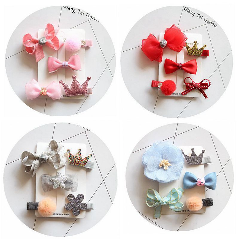 Children bowknot cute hair clips for girls baby headdress hairpin suits series of classic hair accessories kids headwear MT-74 1 pcs fashion cute dimensional flowers baby hairpins girls hair accessories children headwear princess barrette kids hair clips