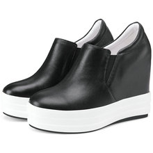 Trainers Women Genuine Leather High Heel Party Pumps Wedges Platform Punk Oxfords Walking Shoes Med Top Creepers Casual