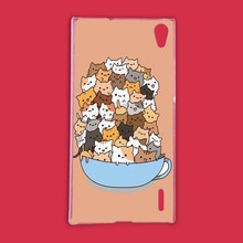 Because Cats Cute Funny Plastic Protective Shell Skin Bag Case For Huawei P7