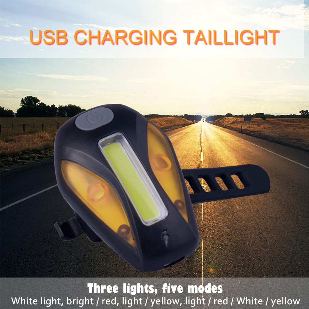 TSLEEN 120LM Rechargeable COB LED USB Mountain Bike Tail Light Taillight Safety Warn Bicycle Rear Bicycle Lamp Bike Accessories bicycle light headligh glare t rechargeable led 10w mountain bike bicycle riding equipment accessories