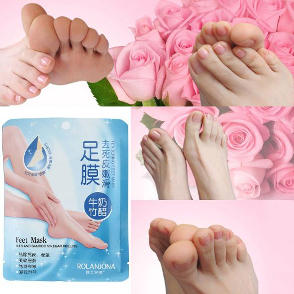 1 Pair/beutel Super Peeling Fuß Maske Socken Für Pediküre Socken Peeling Füße Maske Pflege Schönheit Fußpflege-utensil