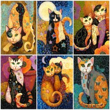 Huacan Diamond Painting Picture Rhinestone Embroidery Sale 5D Diamond Mosaic Full Square Animal Cat Home Decor Gift Drop Ship
