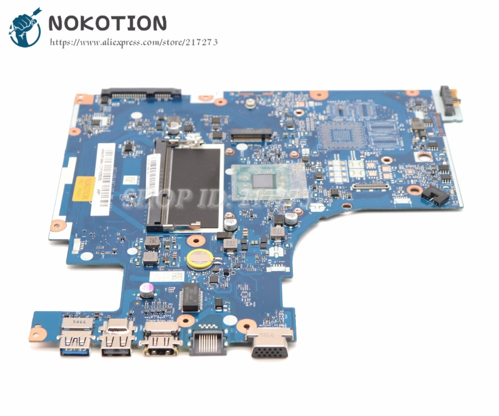 NOKOTION ACLU9 ACLU0 NM-A311 Laptop Motherboard For lenovo Ideapad G50-30 Main Board SR1W4 N2830 CPU DDR3L hot in russian g50 30 laptop motherboard fit for lenovo aclu9 aclu0 nm a311 main board ddr3 with processor on board
