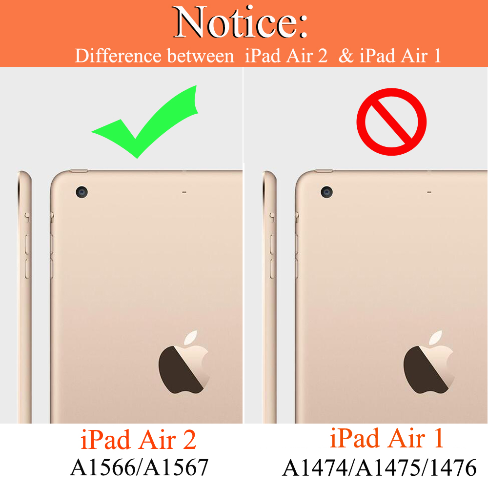 For iPad Air 2 A1566 A1567 Silicon Case Cover For iPad Air 2 Smart Wake Sleep PU Leather Capa Fundas For iPad Air 2 A1566 Coque