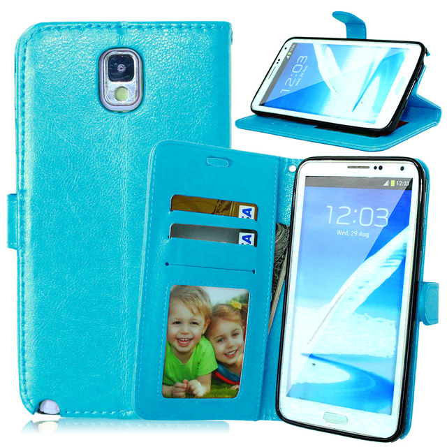 for Samsung Note3 Case Cover Flip Phone Case for Samsung Galaxy Note 3 N900 N9005 SM-N900 SM-9005 Card Holder Holster Mobile