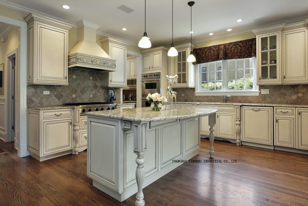 Gabinete de cocina de madera (LH-SW075)