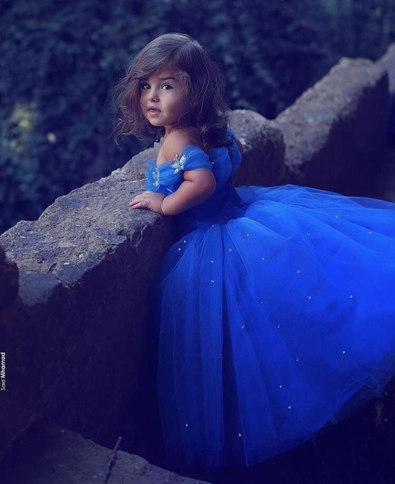 Said Mhamad Royal Blue Princess   Flower     Girl     Dresses   Puffy Tutu Sparkly Crystals 2018 Toddler Little   Girls   Pageant   Dress