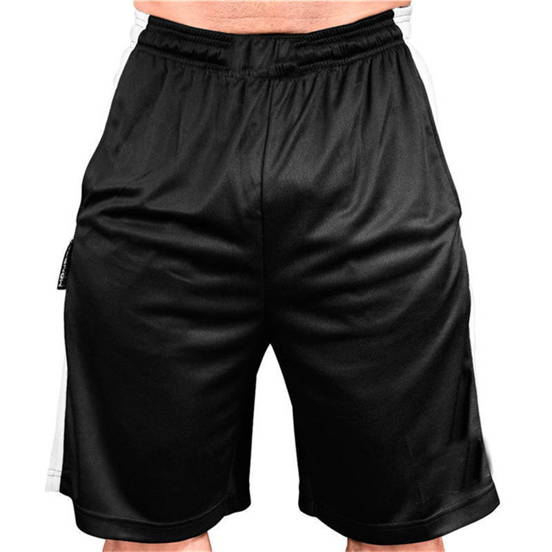 GITF Quick dry men gym fitness shorts Bodybuilding jogging workout male Slim fit short pants Knee Length Run Mesh Sweatpants in Running Shorts from Sports Entertainment